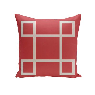 Harford Geometric Decorative Outdoor Pillow Color: Coral, Size: 16 H x 16 W x 1 D