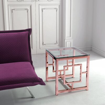 Rohrbach End Table Color: Rose Gold