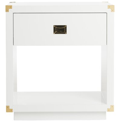 Jove End Table Color: White
