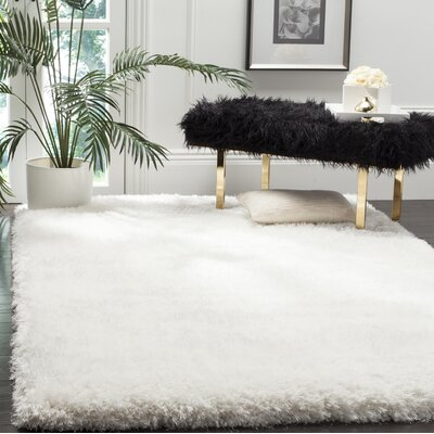 Hand-Tufted Beige Area Rug Rug Size: Round 6, COLOR: Ivory