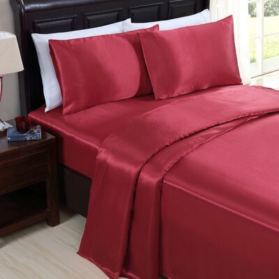 McQueen 200 Thread Count Sheet Set Color: Red, Size: Full