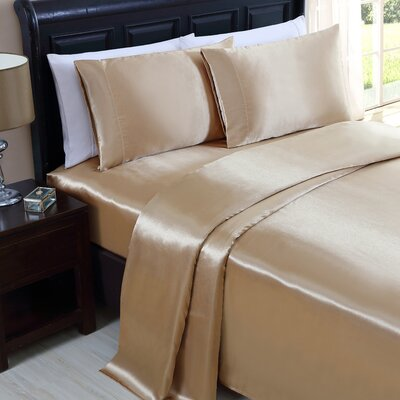 McQueen 200 Thread Count Sheet Set Color: Gold, Size: Queen