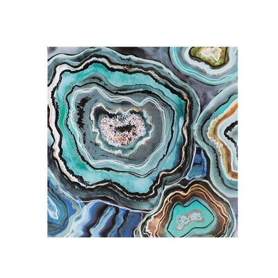 "Complex ""Agate"" by CJ Swanson Painting Print on Wrapped Canvas MRCR5867 32758058"