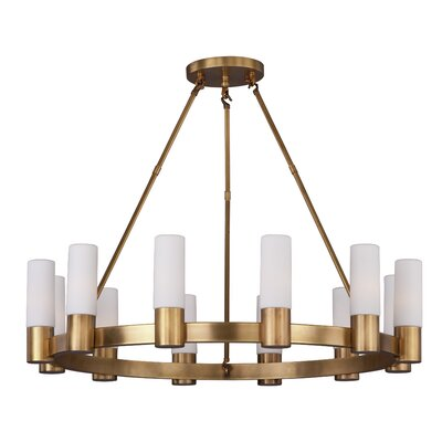 Roche 12-Light Shaded Chandelier