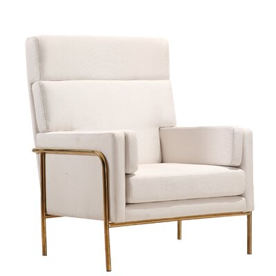 Griswalda Armchair Color: Cream