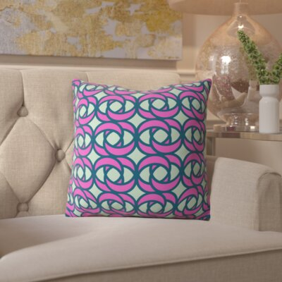 Belle Mod Rose Hibiscus Outdoor Throw Pillow Size: 16 H x 16 W x 4 D