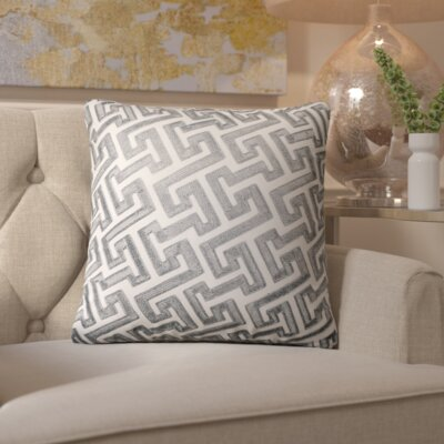 Wandsworth Cotton Throw Pillow Color: Grey