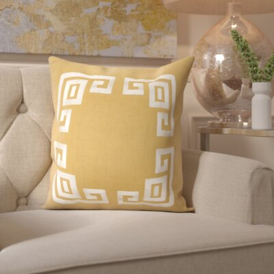 Richelle 100% Linen Throw Pillow Cover Size: 20 H x 20 W x 1 D, Color: BrownNeutral