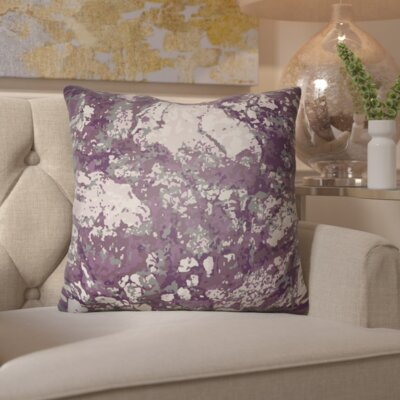 Hough Throw Pillow Size: 18 H x 18 W x 4 D, Color: Purple