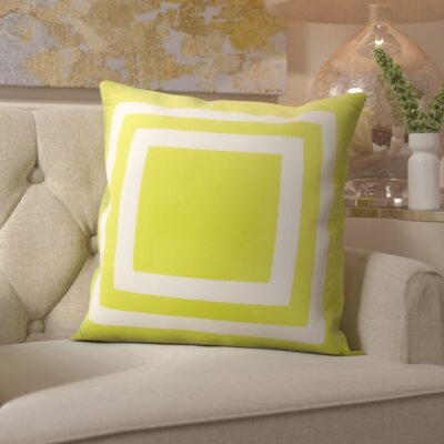 Horovitz Outdoor Throw Pillow Color: Green