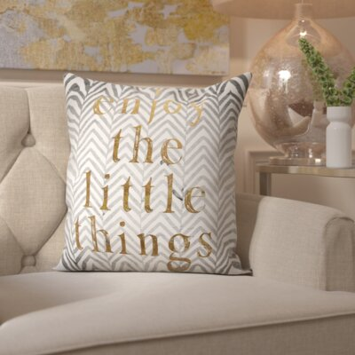 Pyrite Enjoy The Little Things Throw Pillow