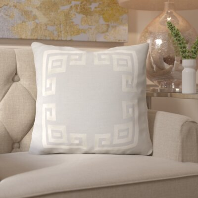 Chie and Linen Throw Pillow Size: 20 H x 20 W x 4 D, Color: Light Gray/Beige