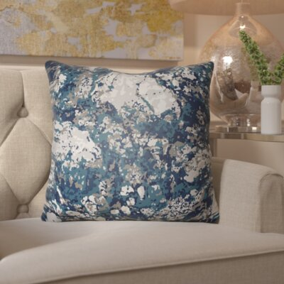 Hough Throw Pillow Size: 18 H x 18 W x 4 D, Color: Blue