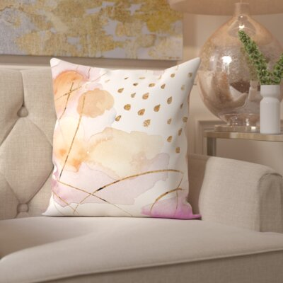 Paola Rain or Shine Gold Throw Pillow