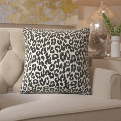 Etienne Olesia Animal Print Cotton Throw Pillow Size: 18 x 18