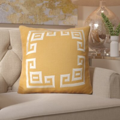 Crystal River Linen Throw Pillow Size: 22 H x 22 W x 4 D, Color: Gold/Beige