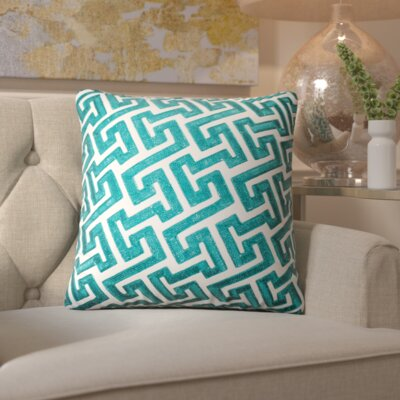 Wandsworth Cotton Throw Pillow Color: Green