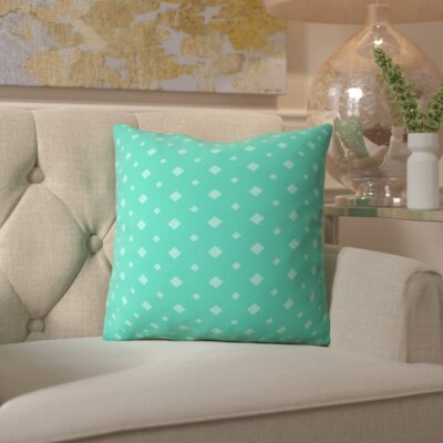Belle Twinkle Emerald Outdoor Throw Pillow Size: 18 H x 18 W x 5 D