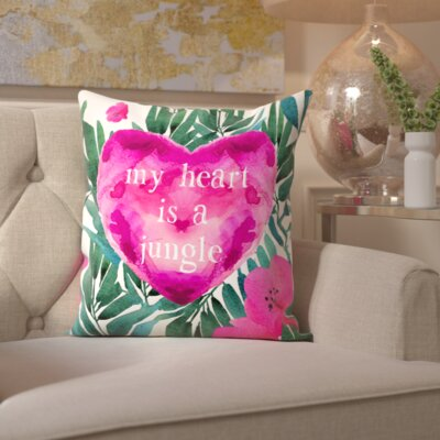 Pudsey Home Jungle Heart Throw Pillow
