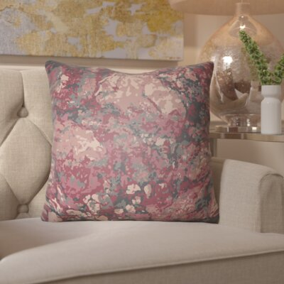 Hough Throw Pillow Size: 18 H x 18 W x 4 D, Color: Red