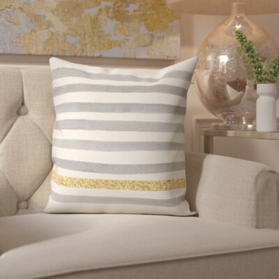 Radelange Gold Line Stripes Pillow