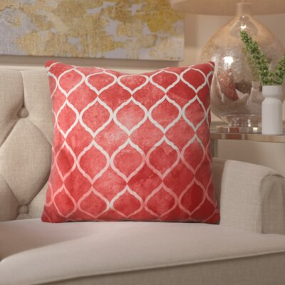 Heroux Global Brocade Lumbar Pillow Color: Red