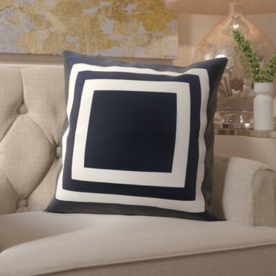 Horovitz Outdoor Throw Pillow Color: Navy