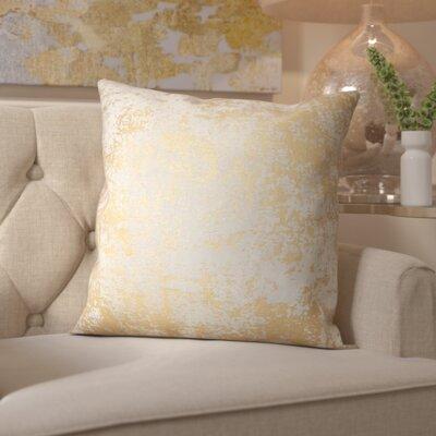 Villance Velvet Throw Pillow Color: Gold