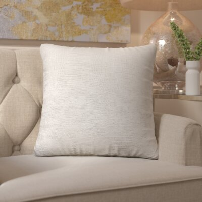 Enok Platinum Alligator Throw Pillow