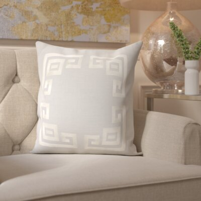 Richelle 100% Linen Throw Pillow Cover Size: 22 H x 22 W x 1 D, Color: GrayNeutral