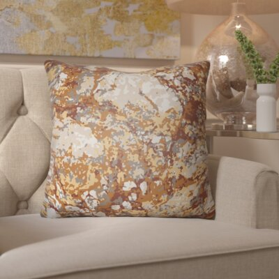 Hough Throw Pillow Size: 18 H x 18 W x 4 D, Color: Orange