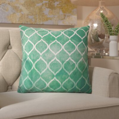 Heroux Global Brocade Lumbar Pillow Color: Green