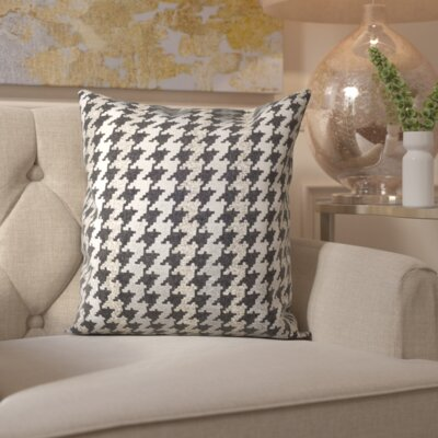 Lamour Hounds Tooth Throw Pillow Size: 18 H x 18 W