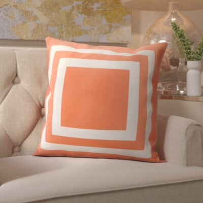 Horovitz Outdoor Throw Pillow Color: Orange