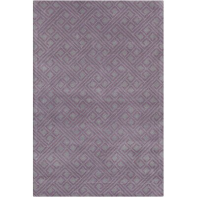 Borset Hand Tufted Wool Purple/Gray Area Rug