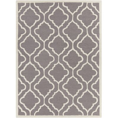 Electra Hand Tufted Rectangle Contemporary Gray/Cream Area Rug Rug Size: 5 x 7