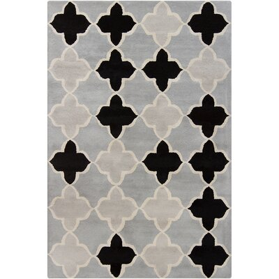 Borset Hand Tufted Wool Gray Area Rug