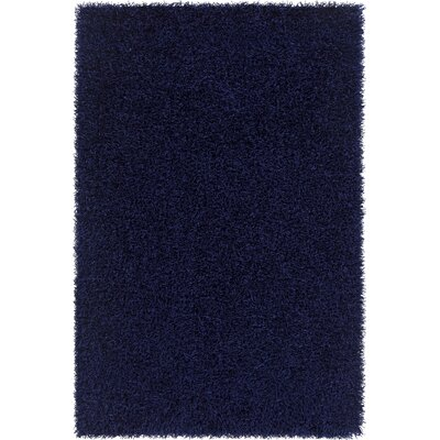 Heston Hand Woven Rectangle Contemporary Shag Blue Area Rug Rug Size: 79 x 106