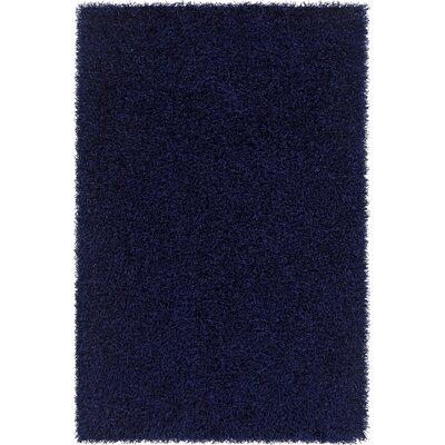 Heston Hand Woven Rectangle Contemporary Shag Blue Area Rug Rug Size: 5 x 76