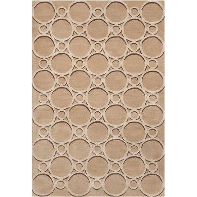 Borset Hand Tufted Wool Tan/Beige Area Rug Rug Size: 8 x 10