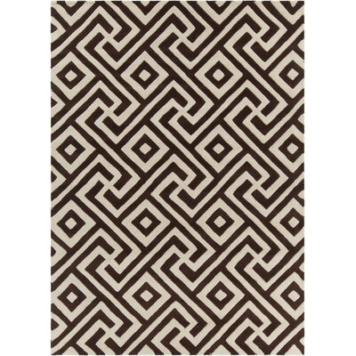 Electra Hand Tufted Rectangle Contemporary Brown/Cream Area Rug Rug Size: 5 x 7