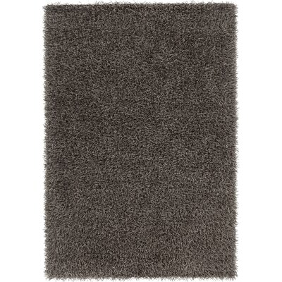 Heston Hand Woven Rectangle Contemporary Shag Dark Gray Area Rug Rug Size: 79 x 106