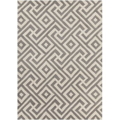 Electra Hand Tufted Rectangle Contemporary Gray/Cream Area Rug Rug Size: 7 x 10