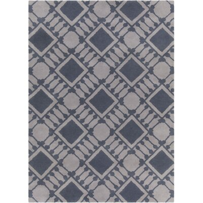 Erith Hand Tufted Rectangle Contemporary Gray Area Rug Rug Size: 5 x 7