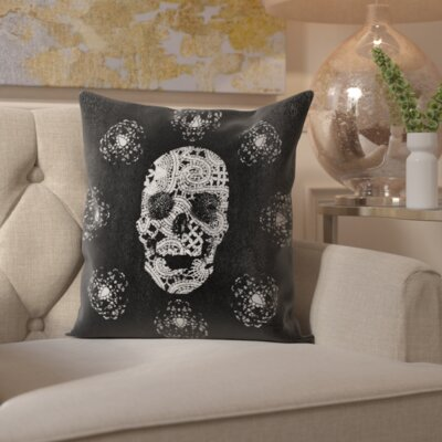 Pudsey Lace and Leather Throw Pillow