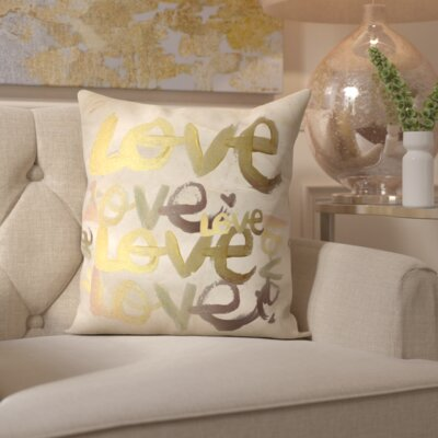 Pyrite Four Letter Word Throw Pillow
