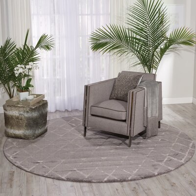 Zoey Gray Area Rug Rug Size: 79 x 99