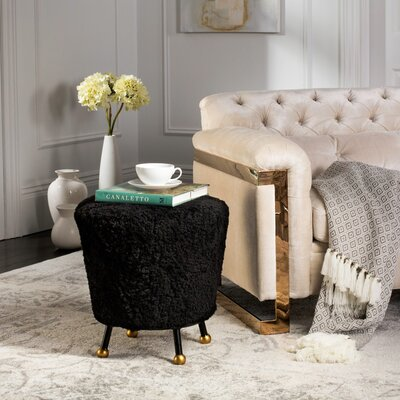 Northwick Retro Ottoman Color: Black