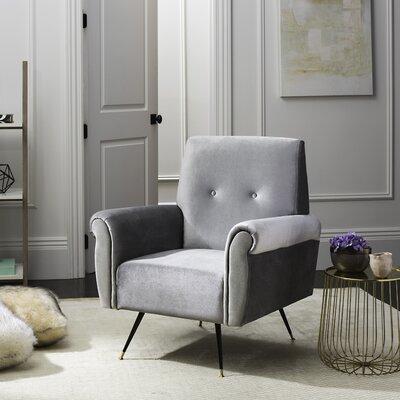 Sittingbourne Retro Mid Century Velvet Armchair