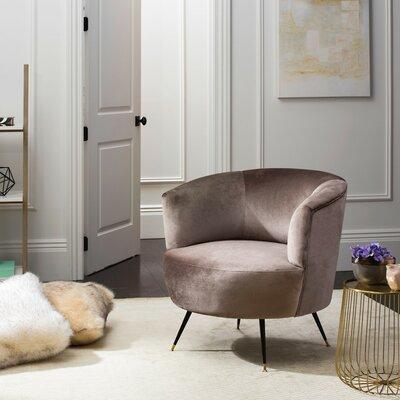 Mullen Velvet Retro Mid Century Barrel Chair Color: Hazelwood